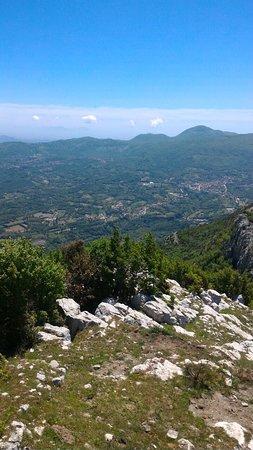 Rocca d'Evandro, Ιταλία: panorama che si gode dalla vetta del Monte Camino