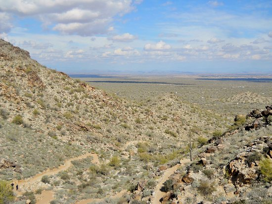 Waddell, AZ: Trail view and valley