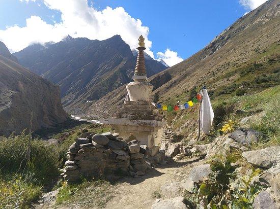 Rekong Peo, Индия: चारंग मठ के लिए रास्ता