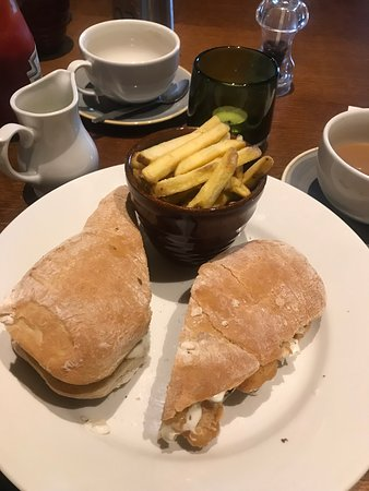 The Dormouse: Fish finger sandwich and chips
