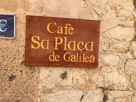 Galilea, Spain: The cafe