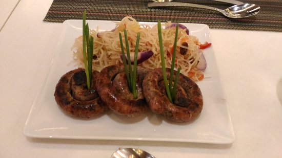 f4338bc3b0fa15 Sausage Rings with Atchara - Picture of Fresh International Buffet ...