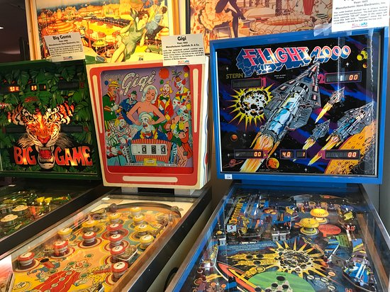 Classic pinball machines at Playland Not At The Beach in El Cerrito.