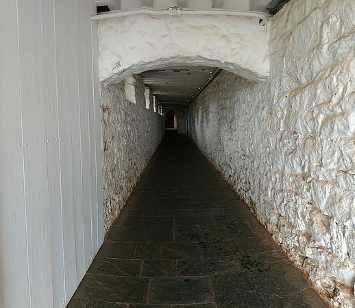 Monticello, residencia de Thomas Jefferson: Tunnel below Monticello leads from one side to the other