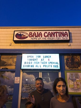 Baja Cantina: outside on 23rd st