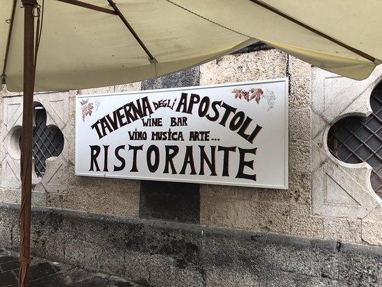 Taverna degli Apostoli: обед