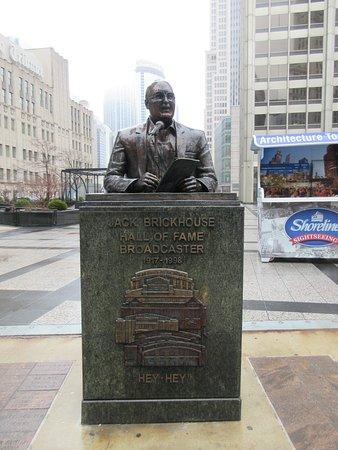 Jack Brickhouse Statue