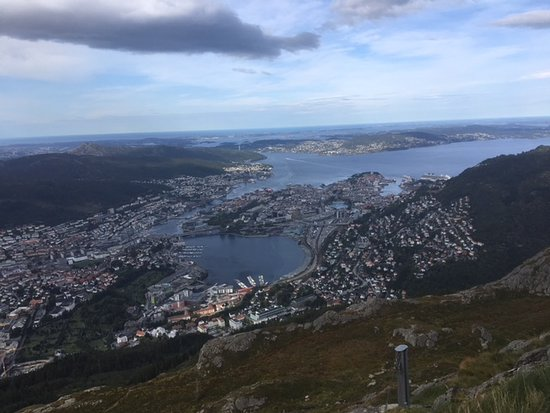 Mount Ulriken: A poor photo of the stunning view