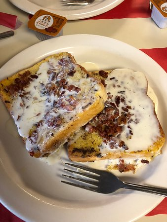Coplay, Pensilvania: Bacon  crusted French toast with icing!