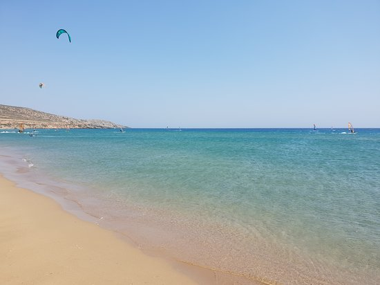 Πρασονήσι, Ελλάδα: Mare spettacolare.. ma la zona è ventosa