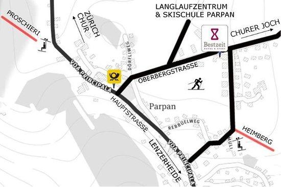 Parpan, Schweiz: Map