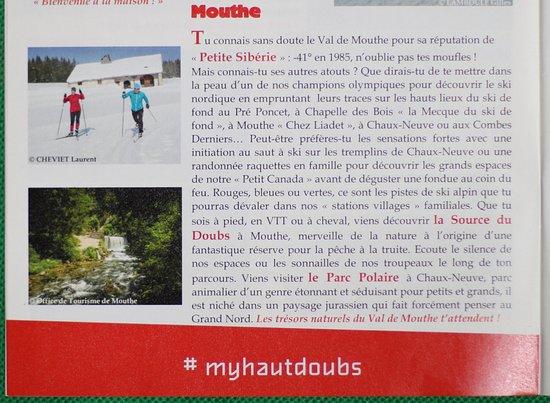 Mouthe, Francja: Brochure hébergements dans le Haut-Doubs à l'OT