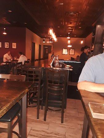 Euclid, OH: Dining area near bar