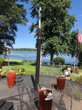 Weyauwega, WI: Sitting over looking the lake