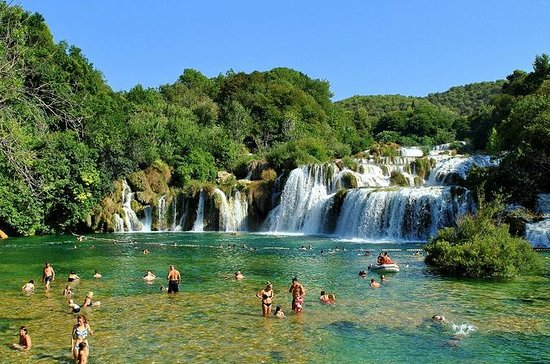 Smiley National Park Krka Waterfalls...