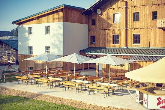 Gostling an der Ybbs, Austria: Sonnenterrasse im Almgasthof