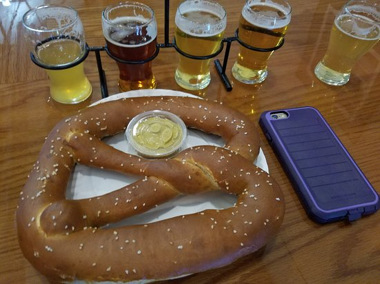 Third Space Brewing: Gigantic pretzel