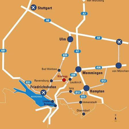 Kisslegg, Jerman: Map