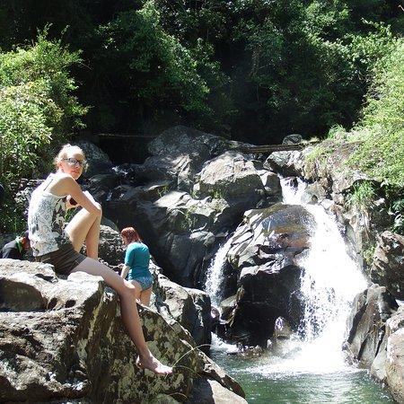 Udispattuwa, Sri Lanka: Trekking in the waterfalls