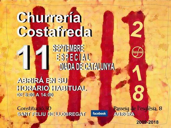Abrera, إسبانيا: Churrería Costafreda abrirá mañana martes en su horario habitual de 6 a 14 h. S FELIU LLOB Y ABR