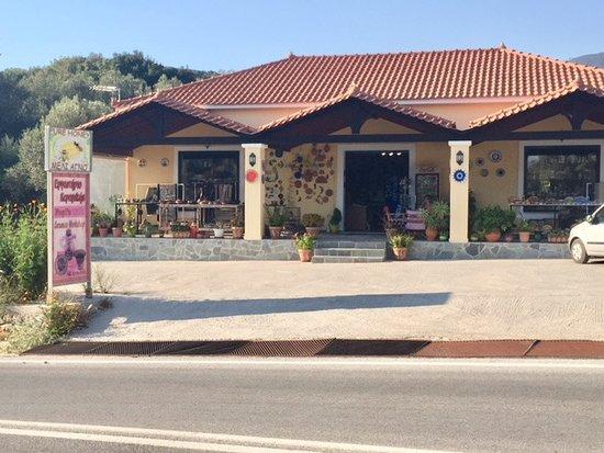 Koumaradei, Griechenland: Verkstatt och utställningslokal