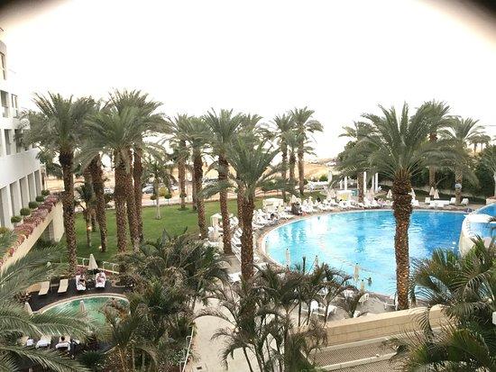 Isrotel Dead Sea Hotel & Spa: Вид с балкона на бассейн.