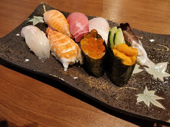 Overpriced, not enough sushi