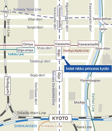 Hotel Nikko Princess Kyoto: Map