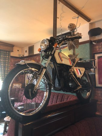 The New Swan Hotel: Bikes and Bones in the bar!