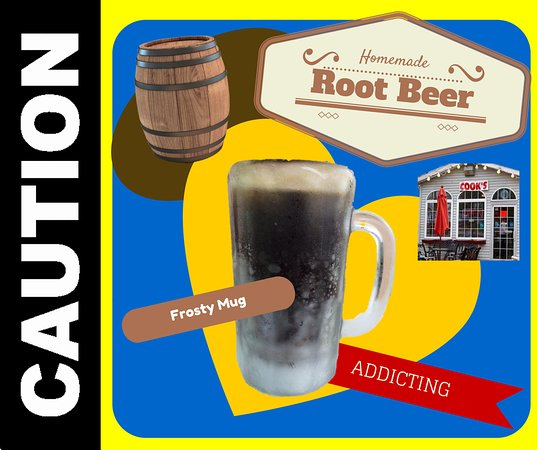 Caledonia, MI: Homemade Root Beer in a frosty mug