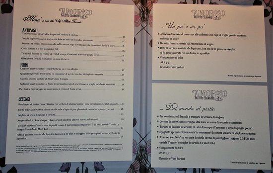Salotto Culinario Prezzi.Menu Foto Di Amoroso Salotto Culinario Palermo Tripadvisor