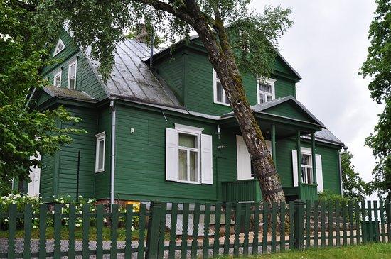 Аникщяй, Литва: Дом-музей с обратной стороны