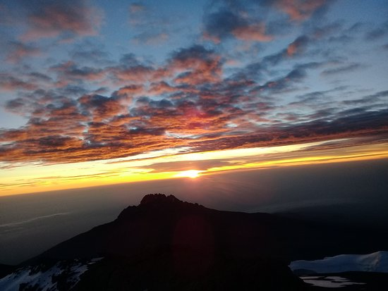 The sun rise from the top of mount kilimanjaro(Uhuru Peak)