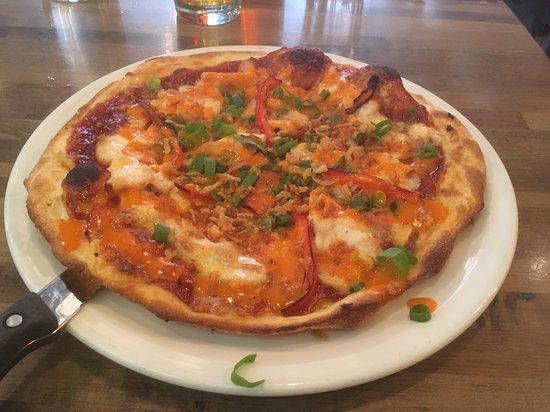 Buffalo Chicken Pizza Picture Of Sapristi Bistro Bar Quebec City
