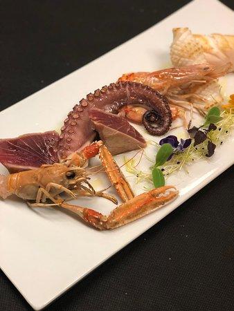 Da Cla Restaurant: Meeresfrüchte und Fischsorten Pulpo, Gambas, Tintenfisch, Kaisergranate, Bernsteinmakrele