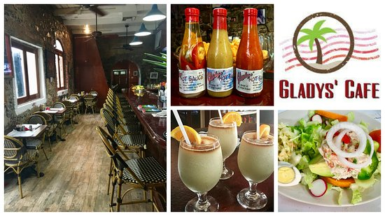 Gladys' Cafe: The atmosphere, food drinks and hot sauce.