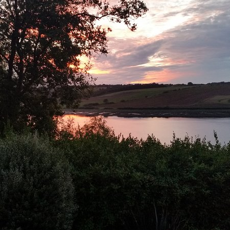 Cosheston, UK: View as the sun set. Dousen't get much better