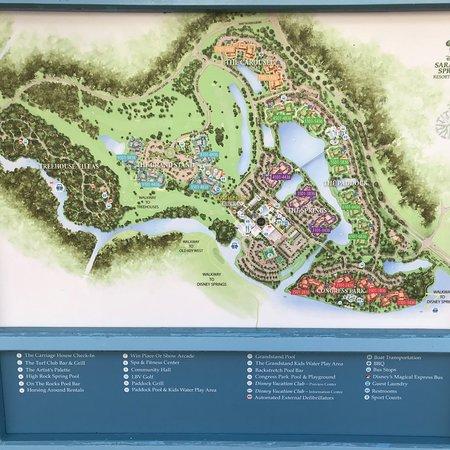 Disney Saratoga Springs Map on