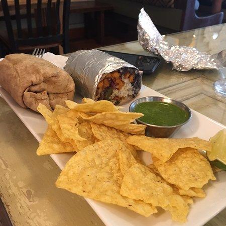 Fort Benton, MT: Asian rice bowl and vegetarian burrito