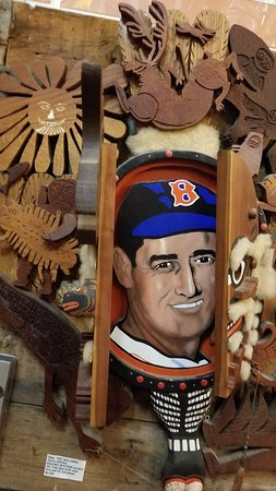 Waldoboro, ME: The artist is a Red Sox fan, and saw Teddy Ballgame play. 'Nuff said.