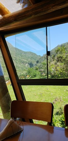 Mampituba: restaurante vista da cachoeira