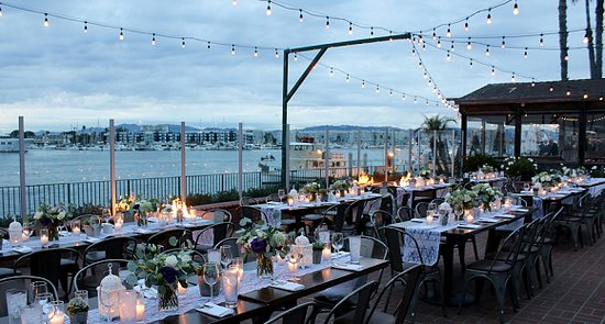 Outdoor Wedding Reception Picture Of Whiskey Reds Marina Del Rey