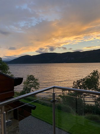 Dores, UK : The evening view of Loch Ness from balcony (room: Mhor)