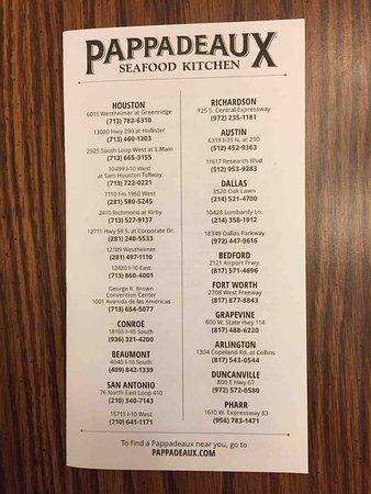 pappadeaux seafood kitchen menu - Pappadeaux Seafood Kitchen Menu