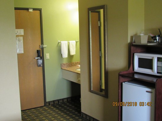Greenville, IL: Room came with fridge and microwave