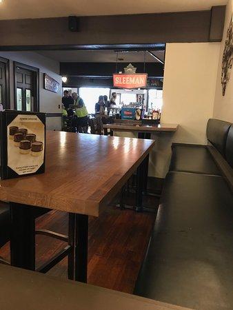 Corks Restaurant: The bar.