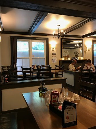 Corks Restaurant: A/C for inside seating.