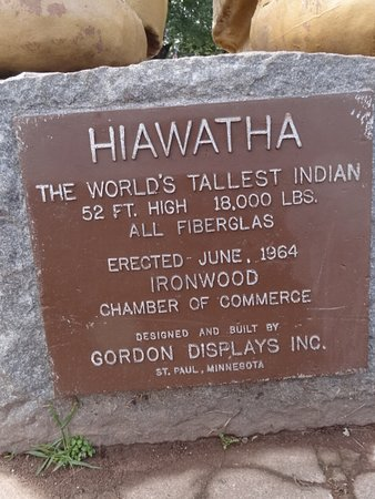 Hiawatha, World's Largest Indian