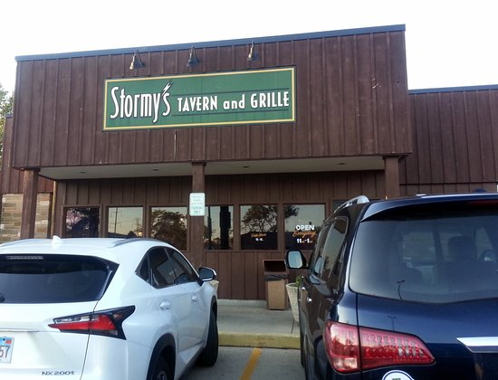Northfield, IL: front of & entrance to Stormy's Tavern and Grille