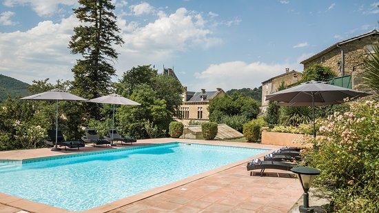 Chalabre, ฝรั่งเศส: Pool &é Chateau